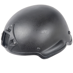 Lancer Tactical MICH 2002 Type Airsoft Helmet w/ Integrated NVG Mount and Velcro Panels (Black)