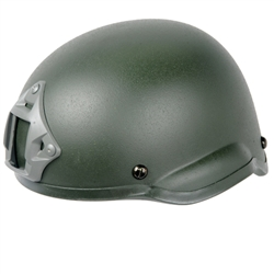 Lancer Tactical MICH 2002 Type Airsoft Helmet w/ Integrated NVG Mount and Velcro Panels (Olive Drab)