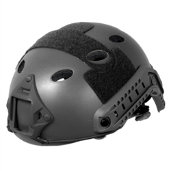 Lancer Tactical CA-738 FAST PJ Type Basic Airsoft Helmet w/ Integrated NVG Mount, 2 Side Rails (Black)