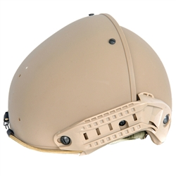 Lancer Tactical CA-761 AirForm Type Basic Airsoft Helmet w/ 2 Side Rails (Tan)