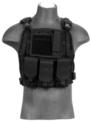 Lancer Tactical CA-301 Molle Plate Carrier Vest (Black)