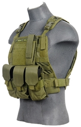 Lancer Tactical CA-301 Molle Plate Carrier Vest (Olive Drab)