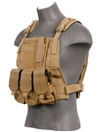 Lancer Tactical CA-301 Molle Plate Carrier Vest (Tan)