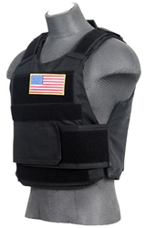 Lancer Tactical CA-302 Body Armor Vest with Mock Ballistic Style Plates (Black)