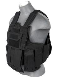 Lancer Tactical CA-303 Tactical Strike Plate Carrier Vest (Black)