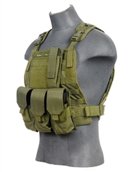 Lancer Tactical CA-303 Tactical Strike Plate Carrier Vest (Olive Drab)
