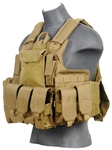 Lancer Tactical CA-303 Tactical Strike Plate Carrier Vest (Tan)