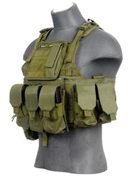 Lancer Tactical CA-305 Tactical Plate Carrier Vest (Olive Drab)