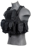 Lancer Tactical CA-305 Tactical Plate Carrier Vest (Black)