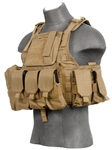 Lancer Tactical CA-305 Tactical Plate Carrier Vest (Tan)