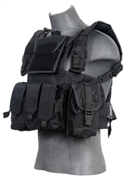 Lancer Tactical CA-307 Modular Chest Rig (Black)