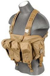 Lancer Tactical CA-308 Integrated AK Chest Rig (Tan)