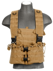 Lancer Tactical CA-309 Integrated Mag Pouch Chest Rig (Tan)