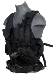 Lancer Tactical CA-310 Cross-Draw Tactical Vest (Black)