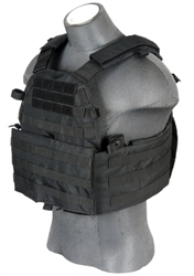 Lancer Tactical CA-311 Tactical Strike Cutaway Plate Carrier Vest (Black)