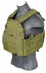 Lancer Tactical CA-311 Tactical Strike Cutaway Plate Carrier Vest (Olive Drab)