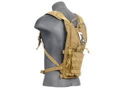 Lancer Tactical Recon Hydration Backpack for 2.5L Hydration Bladders (Tan)