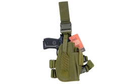 Lancer Tactical 92F Drop Leg Holster for M9 Pistols and Spare Magazine (Olive Drab)