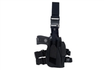 Lancer Tactical 92F Drop Leg Holster for M9 Pistols and Spare Magazine (Black)