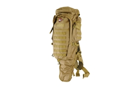 Lancer Tactical MOLLE Sniper Rifle Carry Backpack (Tan)