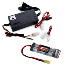 MetalTac Power Package - 8.4v 1600 mAh Flat Battery & Smart Charger