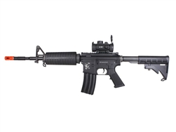 WE M4-A1 Metal Airsoft Electric Gun with Red Dot Package