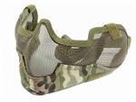 MetalTac Half-Face Metal Wired Mesh Mask Version 2 (Multi-Camo)