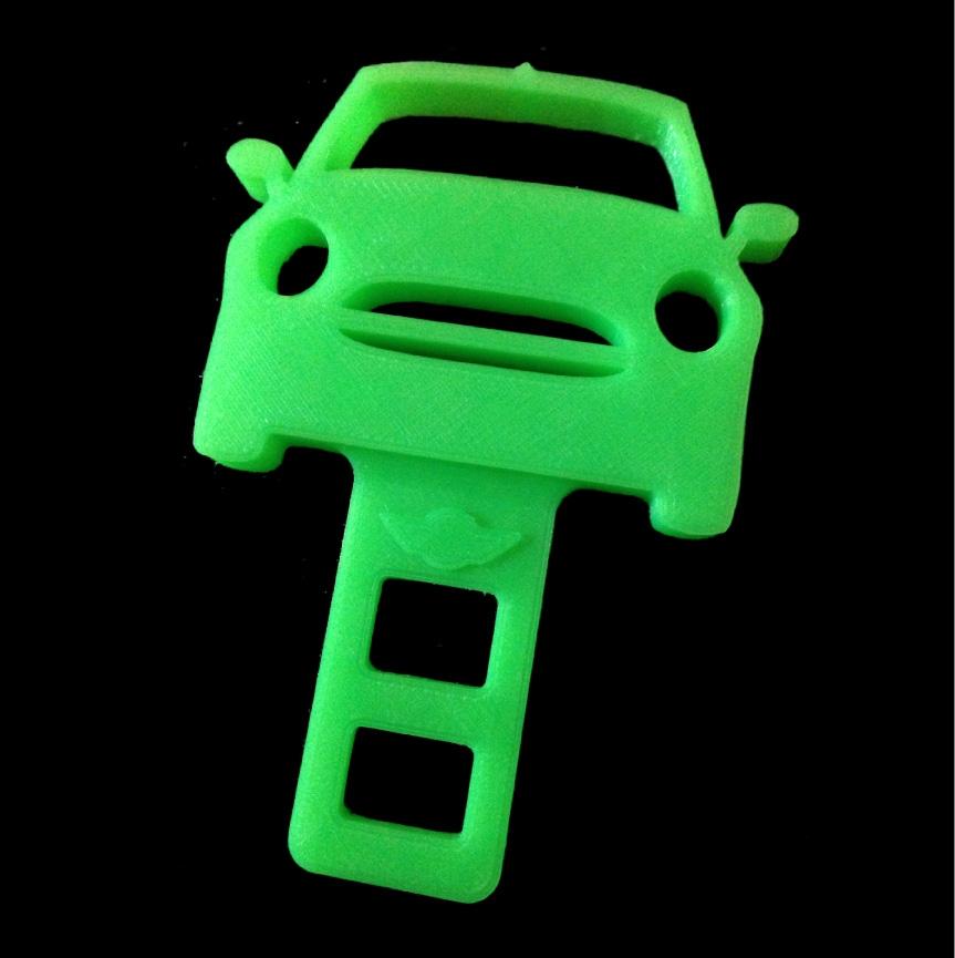 3d Printed Mini Cooper Seatbelt Silencer