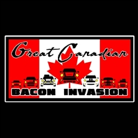 Bacon Invasion Rectangle Vinyl Decal