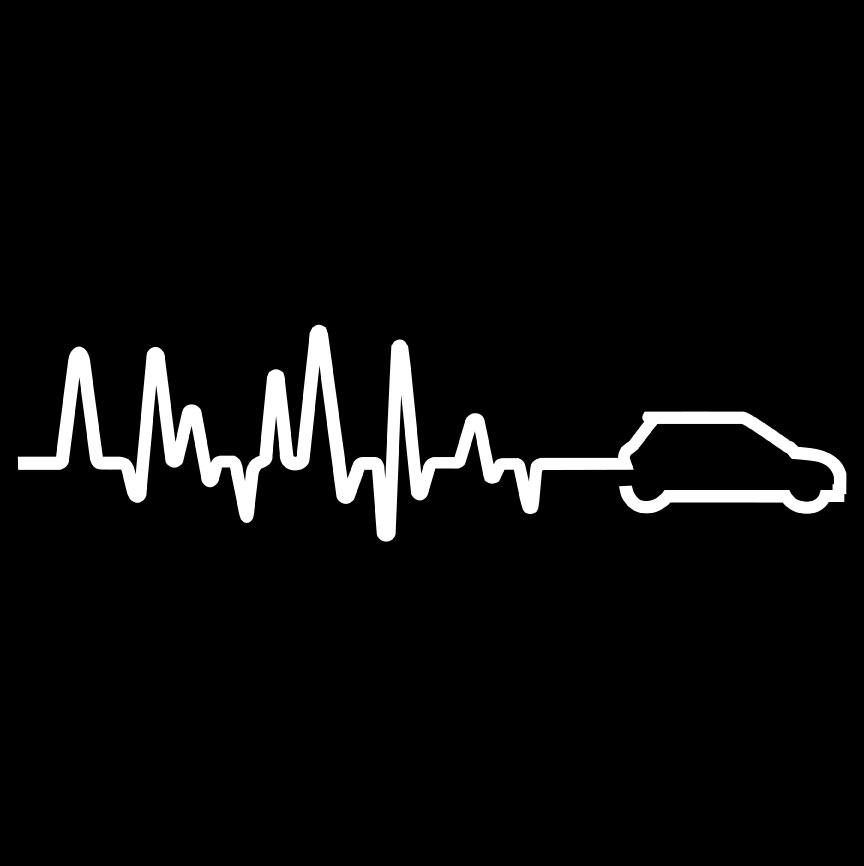 Mini Heartbeat Right Vinyl Sticker