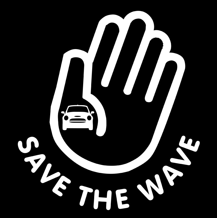 Save The Wave Mini In Hand Decal