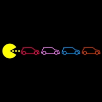 PacMan Chasing MINIs 5 color right
