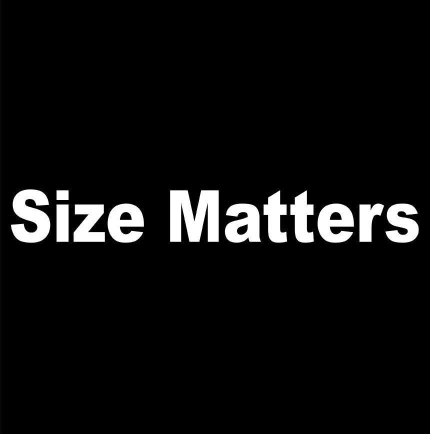 Image result for size matters