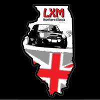 LXM of Northern Illinois Black Background Cling