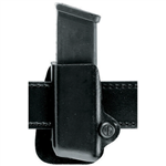 SAFARILAND MODEL 074 OPEN TOP SINGLE STX BASKET WEAVE GLOCK 17 / 22 MAGAZINE POUCH, LEFT HANDED