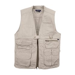 5.11 TACTICAL VEST, KHAKI, LARGE