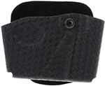 SAFARILAND MODEL 573 OPEN TOP MAGAZINE AND HANDCUFF POUCH, BASKETWEAVE, RIGHT HANDED