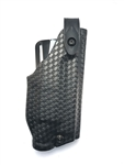 Safariland 6280 SLS Mid-Ride Level-II Retention, Glock 17, 22 w/SF X400; 19, 23 w/SF X400, STX Black Basket Weave, RH