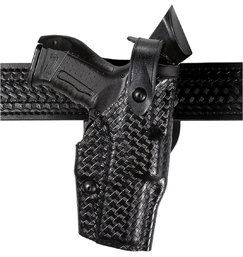 SAFARILAND Model 6360 ALS®/SLS Mid-Ride, Level III Retention™ Duty Holster,  Glock 17/22 and 19/23, Right-Handed, STX Basketweave