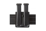 SAFARILAND SLIMLINE OPEN-TOP DOUBLE MAG CARRIER (BLACK, BW)