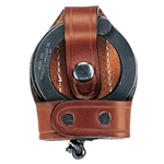 Aker Leather Bikini Handcuff Case, Brown