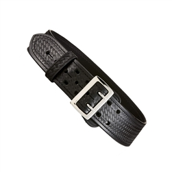 Aker Sally Browne Curved Duty Belt, Basket Weave, Nickle Buckle, 36