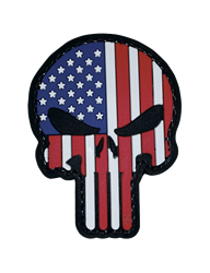 MORALE PATCH, PUNISHER- PATRIOTIC