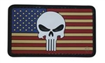 TRU-SPEC PUNISHER / AMERICAN FLAG PATCH