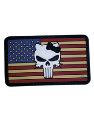 MORALE PATCH, VINTAGE FLAG- KITTY