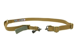 BLUE FORCE GEAR VICKERS 2 TO 1 SLING, RED SWIVEL VERSION, COYOTE BROWN