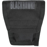 BLACKHAWK MOLLE DOUBLE HANDCUFF CASE WITH SPEED CLIPS, BLACK