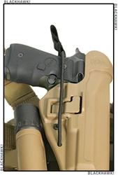 bianchi model 100 leather iwb holster, size 14  left handed