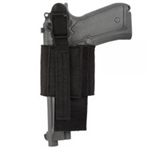 BLACKHAWK VELCRO ADJUSTABLE HOOK-BACK HOLSTER, BLACK