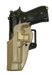 BLACKHAWK® CQC™ SERPA® COYOTE TAN HOLSTER FOR BERETTA 92/96 (LEFT-HANDED)